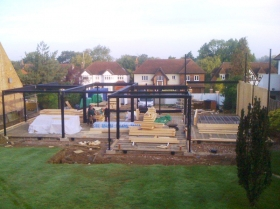 Creative Space for self build homes - structural steelwork & sips panels