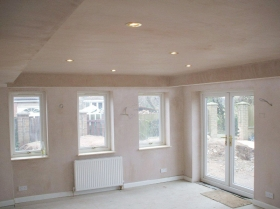 Reford - home extension self build internal walls