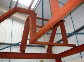 Reford - trial erection structural steelwork