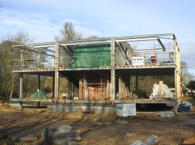 Creative Space - structural steelwork erection