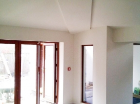 interior view windows and door frames