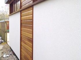 exterior view building render door