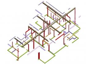 steel framework skeleton