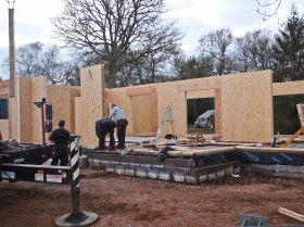 building erection panels development