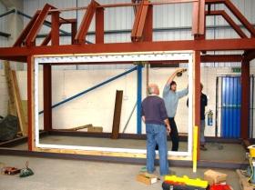 Creative Space - Steel erection trial run sg1l0314-1